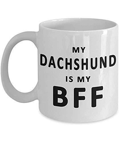 Schäferhund-Kaffeetasse Mein Hund ist mein BFF GSD Hundebesitzer-Geschenk Lustiges Hundemamma-Becher-Geschenk für Hundeliebhaber