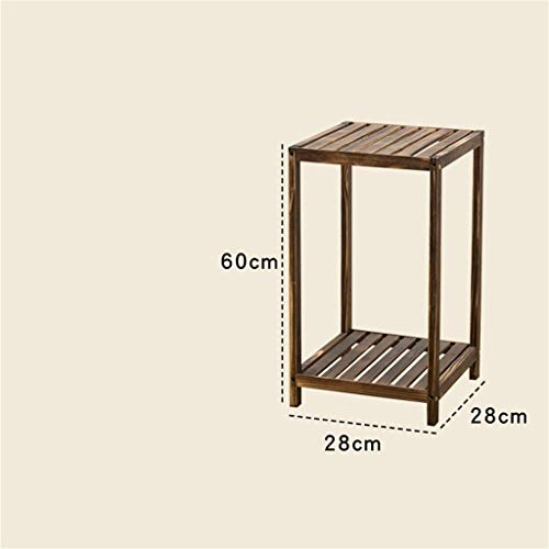 GWFVA Afwerkingspot voor bloempotten. Eenvoudige massief hout balkon woonkamer balkon luie vouwen tafels salontafel salontafel (bruine kleur) bloempot houder