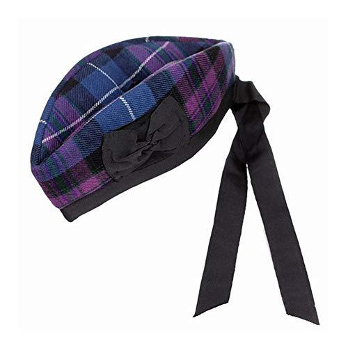 Chapeau écossais Glengarry Highland écossais CIVILES MILITAIRES robe-toorie sur le dessus