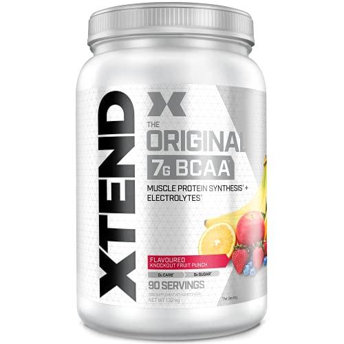 XTEND Original - Suplemento de BCAA en polvo - Cóctel de frutas | Aminoácidos de cadena ramificada | 7g de BCAA con electrolitos para una mayor hidratación y recuperación | 90 raciones