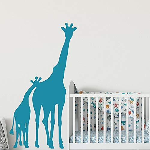FXBSZ Anpassbare Giraffen Wandtattoos Babyzimmer Wandtattoos Kindergarten Wild Zoo Dekoration Wildtier Wanddekoration Aufkleber Golden 56cm x 83cm