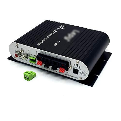 OMVOVSO Audio estéreo del Coche Amplificador de bajo Amplificador última, Amplificador de Alta fidelidad Equipo de Música de Amplificador Alta Potencia