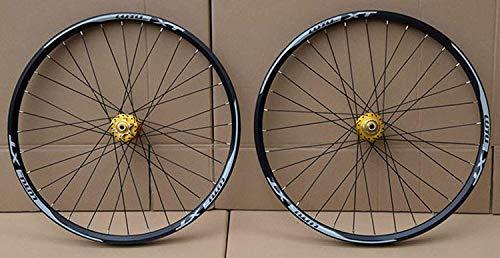 Juego de ruedas de bicicleta de montaña, 26 27,5 29 pulgadas Rueda de bicicleta de montaña Llanta de aleación de doble capa Rodamiento sellado 7-11 Velocidad Cassette Hub Freno de disco 1100G,B,27.5