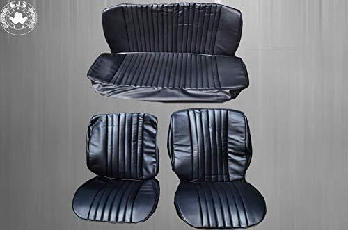 SJS CARSTYLING Sitzbezüge,Bezüge passend für VW Käfer 1300-1303 Limousine,schwarz mit Perforation NEU