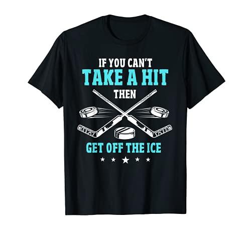 Ice Hockey Puck Stick Players Wingers Defencemen Goaltender T-Shirt