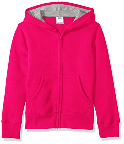 Amazon Essentials Fleece Zip-up Hoodie Fashion, Frambuesa, 24 meses
