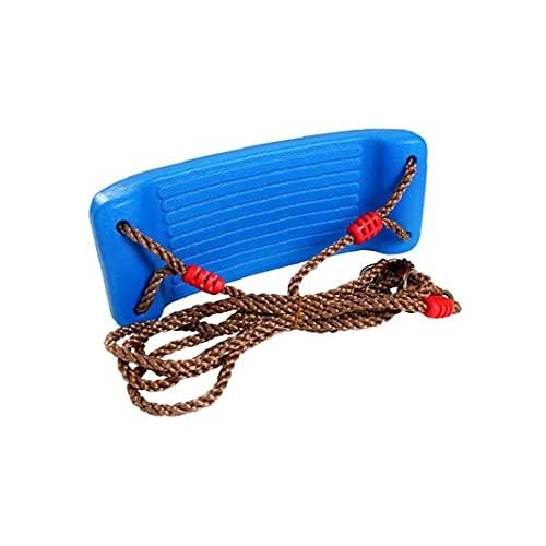 Curved Niños Placa Oscilante Asiento Divertido Mecedora Asiento De Columpio para Swing Interior Y Exterior Mecedora Azul