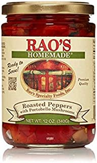 Rao's Homemade Roasted Peppers with Portobello Mushrooms, 12 Oz Jar, 3 Pack, Packed in Olive Oil with Garlic, Great for Appetizers, Antipasto Platters, Pasta, Salad, Sandwiches, Pizza