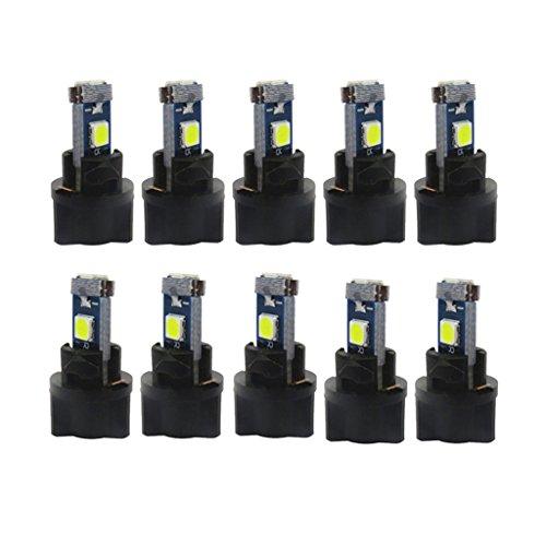 MagiDeal Lampes de Tableau de Bord T5 3030 LED 245LM 10pcs - Blanc