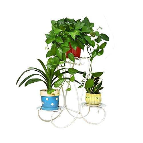 HSIOVE Decoración del hogar Soporte de Metal para Plantas de 3 Niveles, Soporte de Plantas para macetas, Soporte para jardín, Soporte para exhibición de Flores, Estante de Almacenamiento para Decor