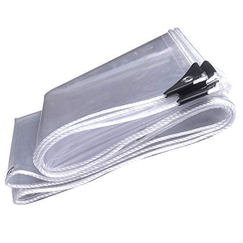 FXPCYGZ Lona PVC, Impermeable Transparente 0.3MM Resistente Al Polvo A Prueba De Lluvia A Prueba De Lluvia Cubierta A Prueba De Viento para Plantas Invernadero(2 * 3m(6.6 * 9.8ft))