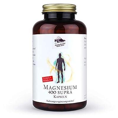 KRÄUTERHANDEL SANKT ANTON - Magnesium 400 Supra Kapseln - 400mg reines Magnesium Tagesdosis - 300 Kapseln Hochdosiert - Hergestellt in Deutschland (Ohne Zusätze) Laborgeprüft
