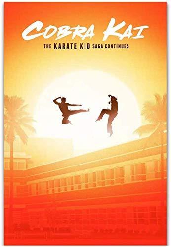 Cobra Kai KOFU Serie de TV 2018 Karate Kid Show Art Poster Print Canvas Pictures Imágenes de la sala de estar Decoración del hogar Regalo único -20x30 in Sin marco