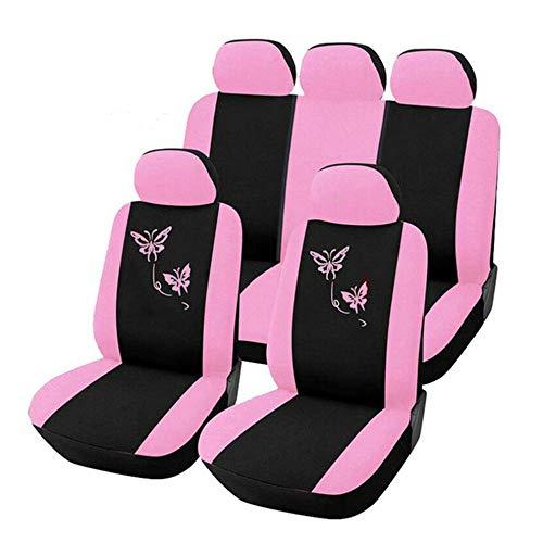 N/V Farfalla Stile Moda Anteriore Posteriore Universale Seggiolino Auto Copre Di Lusso Carino Rosa Auto Veicolo Auto Coprisedili