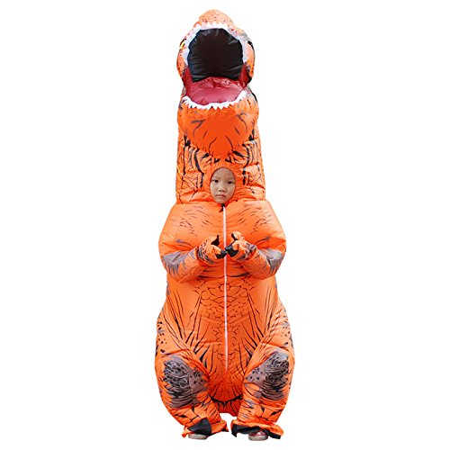 HGYJ Ropa Inflable Halloween T-Rex Dinosaurio para nios Adultos Festival Show Party Ropa de Nochebuena,Orange,Adult(150-190cm)