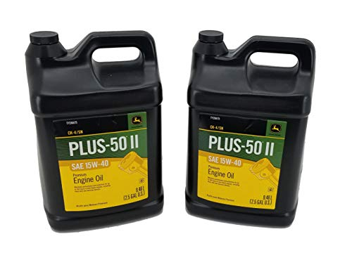 John Deere (2 Pack) Plus-50 II SAE 15W-40 CK4/SN Premium Engine Oil 2.5 Gallon - TY26675