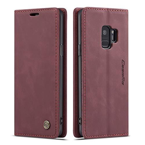 Vintage Custodia a portafoglio in pelle - Samsung S Samsung Galaxy S9 Earthen