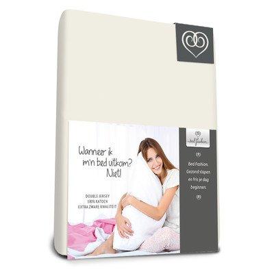 Bed-Fashion Hoeslaken met dubbel jersey 90 x 210 cm Off White, Single
