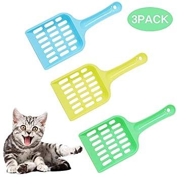 Weenoo Lot de 3 pelle à litière pour chat durable, outil de nettoyage de litière pour chat, pelle à déjections pour chat, outil de nettoyage pour animaux domestiques