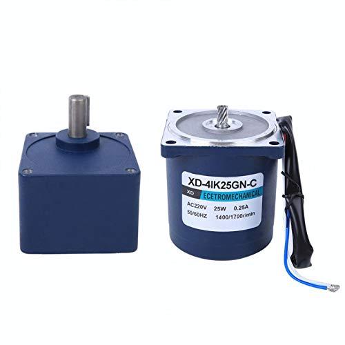 Caja de engranajes Motor de alta potencia Motor de reducción de velocidad monofásico Motor de CA para máquina de corte para máquina de cuentas