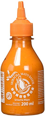 FLYING GOOSE Sriracha Mayoo Sauce - Mayonnaise, leicht scharf, orange Kappe, Würzsauce aus Thailand, 1er Pack (1 x 200 ml)