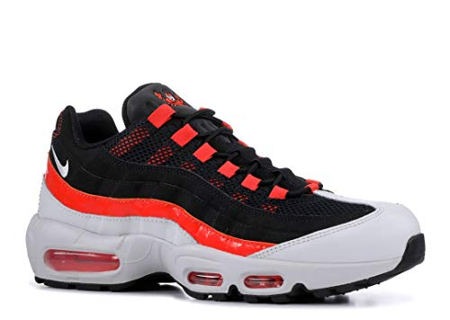 Nike Men's Air Max 95 Black/Team Orange/City Pride Baltimore Leather covid 19 (Orange Leather Footwear coronavirus)