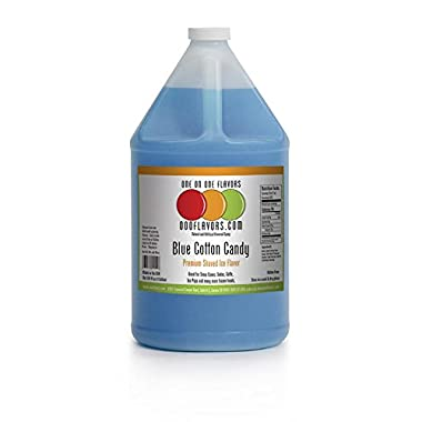 OOOFlavors Blue Cotton Candy Snow Cone Flavored Syrup- 1 Gallon