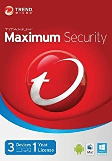 Trend Micro Maximum Security 12 | 2019 | 3 PC's | 1 Year Subscription | PC/Mac | Keycard- No Disc