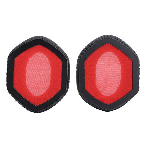 214 Auriculares Almohadillas de Repuesto para Auriculares V ‑ Moda XS para Auriculares para Crossfade M ‑ 100 LP2 LP para DJ, Negro y Rojo