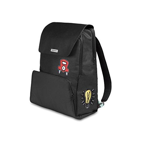 Moleskine City Travel Monopoly Edition Zaino Porta PC 15' e Tablet, Tema Monopoli, Backpack con Dorso Traspirante, Nero con Grafiche Colorate, 34.3 x 20.3 x 47 cm