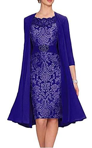 Snow Lotus 2-teiliges Damen-Brautkleid. Gr. 44, königsblau