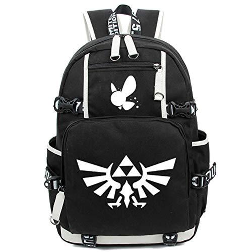 YOYOSHome Anime Cosplay Noctilucence Rucksack Messenger Tasche Rucksack Schultasche schwarz The Legend of Zelda