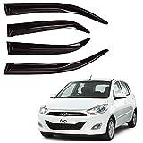 Autofact Bossy Side Window Deflector/Door Visor/Wind Guard/Rain Guard Compatible with Hyundai i10 (2007 to 2017)