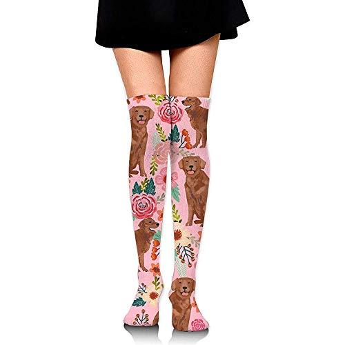 zhouyongz Socken Golden Retriever Dog Teens Tube Beinlinge Strümpfe Frauen Cosplay Mädchen Overknee Oberschenkel Hohe Stiefel Socken Lange Socke
