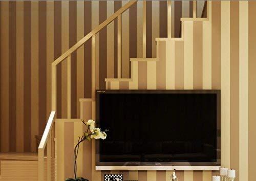 YangYun Heimdekoration, modern, minimalistisch, ländlich, luxuriös, gestreift, Vliesstoff, für Wohnzimmer, Schlafzimmer, Fernseher, Hintergrund, Vliesrolle, Braun 0,53 m breit x 10 m lang = 5,3 m²