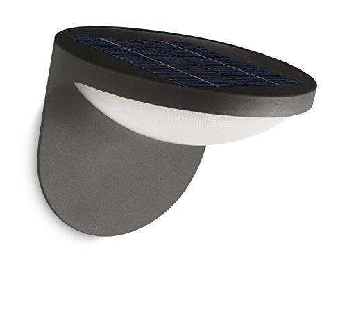 Philips Solar LED Wandaußenleuchte Dusk, anthrazit, 178079316