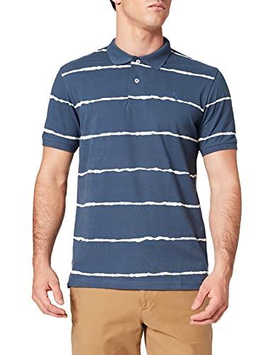 Cortefiel Polo Manga Corta con Logo Suéter, Azul...