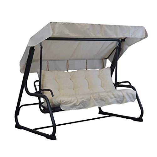 TECNOWEB Cuscini per Dondolo 3 Posti - Incluso nel Ricambio Anche Il tettuccio Coordinato - 100% Made in Italy - Ideale per Esterni (Giardini e Cortili) - Telaio Non Incluso