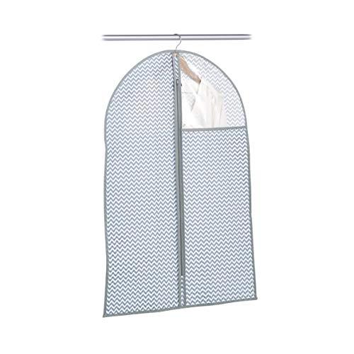 Zeller 14631 Kleiderhülle mit Fenster, Vlies, weiß/grau, ca. 60 x 90 x 1 cm