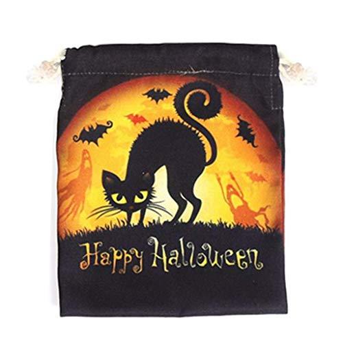 LQH Bolso de Halloween con cordón Bolso de la chuchería de Caramelo Bolsa de Regalo for la decoración de Fiesta de Halloween (Size : E)