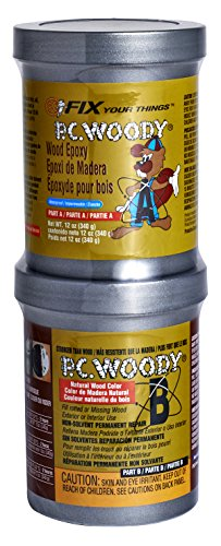 PC Products - 163337 PC-Woody Wood Repair Epoxy Paste, Two-Part 12 oz in Two Cans, Tan 16333
