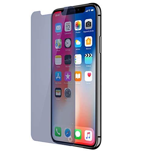Forceglass Protège-écran verre trempé pour iPhone XS Anti-bleu