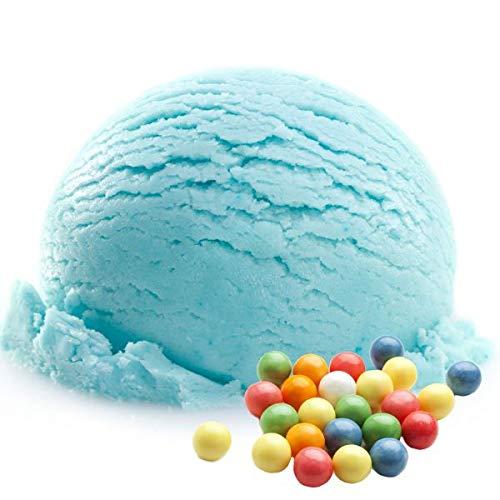 Bubble Gum blau Geschmack Eispulver VEGAN - OHNE ZUCKER - LAKTOSEFREI - GLUTENFREI - FETTARM, auch für Diabetiker Milcheis Softeispulver Speiseeispulver Gino Gelati (Bubble Gum blau, 1 kg)