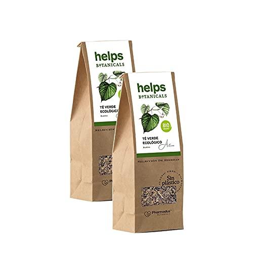 HELPS INFUSIONES - Té Verde A Granel 50% Natural. Infusión Diurética, Antioxidante, Quemagrasas. Favorece La Perdida de Peso. Bolsa A Granel De 50 Gramos. Pack de 2.
