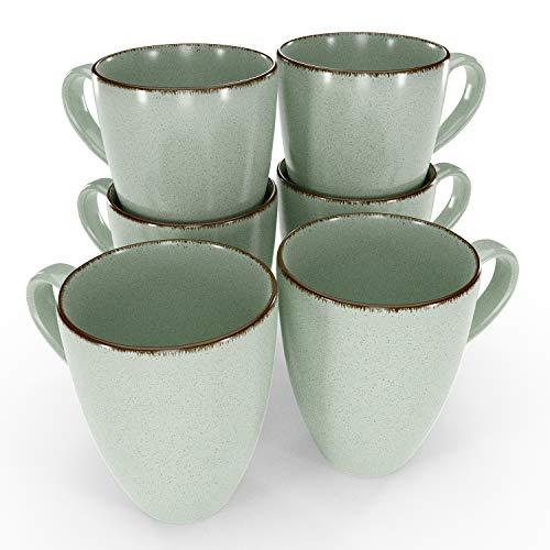 Kaffeetasse Kaffeehaferl Kaffeeservice Tassenset Tee Tasse - Pure Living Tassen Set 6-tlg. Kaffeetassen 6er Set Geschirr Kaffeebecher Porzellan
