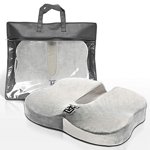 AmorPro- Sitzkissen Orthopädisch Sitzkomfort für home, office, freizeit , Fördert Durchblutung, Entlastet Steißbein, Verteilt Gesäßdruck, Lindert Rückenschmerzen , Fördert gesunde Körperhaltung (Grau)