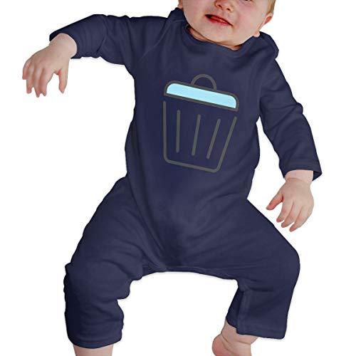 Rasyko calcomanía Gráficos última intervensión Papelera de Reciclaje Clip Baby Crawler Personalidad Bebé Escalada Ropa Infantil Rompers Azul Azul Marino 18M UK