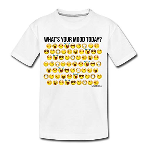 Smiley World Smileys What's Your Mood Today Teenager Premium T-Shirt, 146-152, Weiß