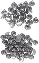 Weddecor Double Cap Gunmetal Tubular Rivets Studs for Replacement, Leathercraft, Bags, Belts, Dog Collar, Repair, Hat, Shoes Sewing Decoration, 9mm, 100pcs