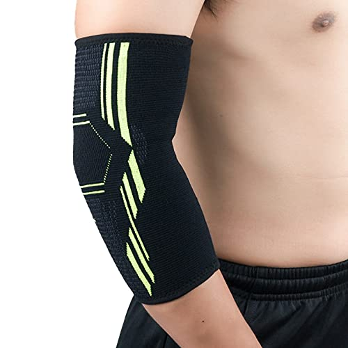 LCK 1 par de Apoyo de Codo Aptitud Elástica Ejercicio Protección Almohada Absorbe el Sudor Sports Baloncesto Brazo Soporte de Codo